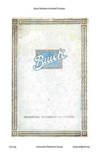 1914 Buick    Nineteen Hundred Fourteen (25pgs)
