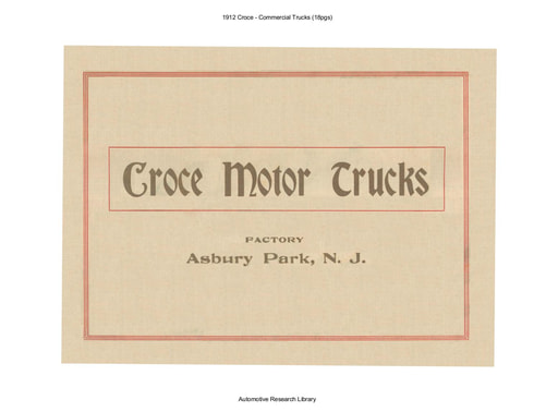 1912 Croce   Commercial Trucks (18pgs)