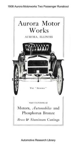 1908 Aurora Motorworks Two Passenger Runabout (8pgs)