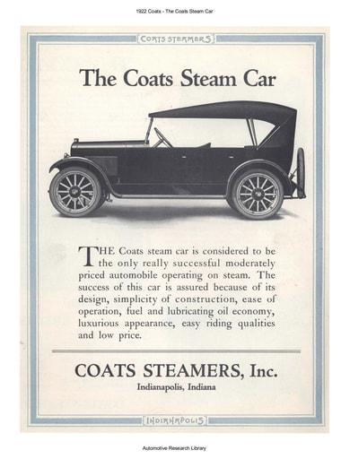 1922 Coats   Steam Car (4pgs)