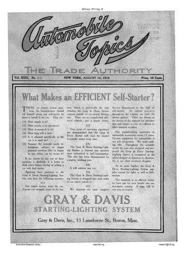 Auto Topics | 1913 Aug 16