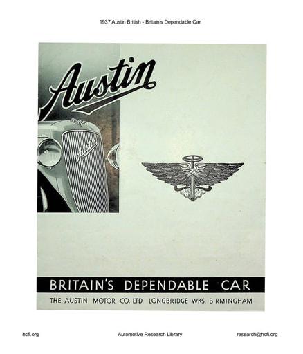 1937 Austin British   Britain's Dependable Car (5pgs)