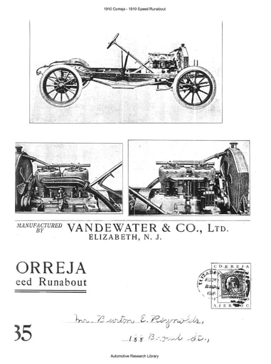 1910 Correja Speed Runabout (2pgs)
