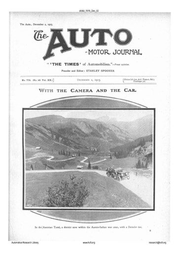 Auto Motor Journal | 1915 Dec 02