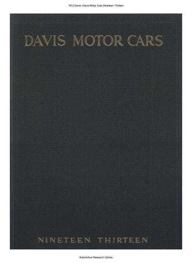 1913 Davis Motor Cars (17pgs)