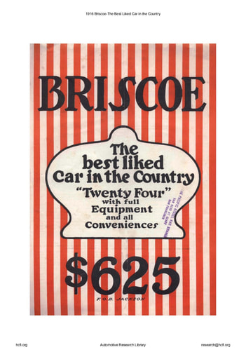 1916 Briscoe   The Best Liked Car in the Country (8pgs)