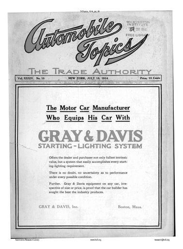 Auto Topics | 1914 Jul 18