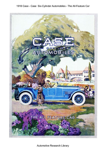 1918 Case   Six Cylinder Automobiles (17pgs)