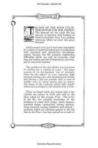1914 Chandler Six (20pgs)
