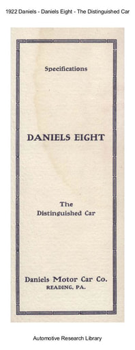 1922 Daniels   Eight The Distinguished Car (4pgs)