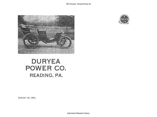 1901 Duryea Power Co (18pgs)