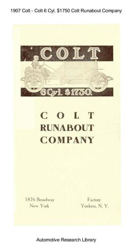 1907 Colt   6 Cyl  $1750 (11pgs)