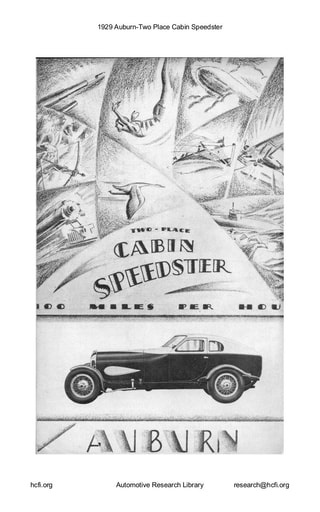 1929 Auburn   Two Place Cabin Speedster (4pgs)