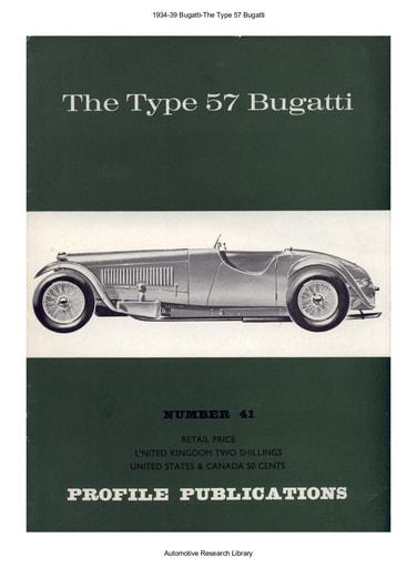 1934 39 Bugatti   The Type 57 (12pgs)