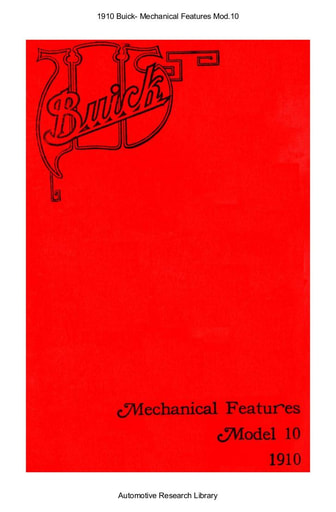 1910 Buick   Mechanical Features Mod 10 (17pgs)