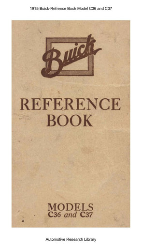 1915 Buick   Refrence Book Model C36 and C37 (83pgs)