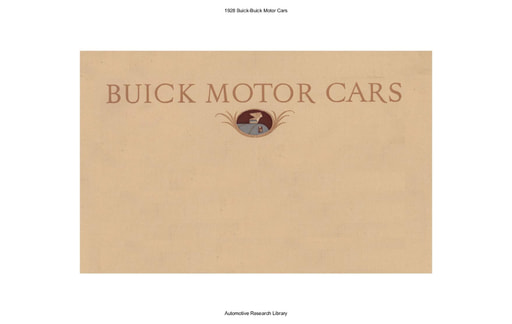 1928 Buick Motor Cars (22pgs)