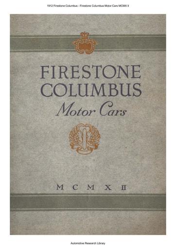1912 Firestone Columbus Motor Cars MCMX II (16pgs)