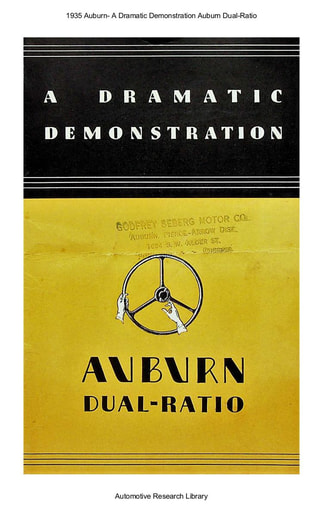 1935 Auburn  A Dramatic Demonstration (9pgs)
