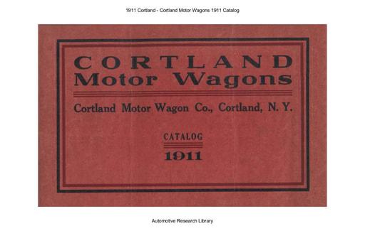 1911 Cortland Motor Wagons Catalog (27pgs)