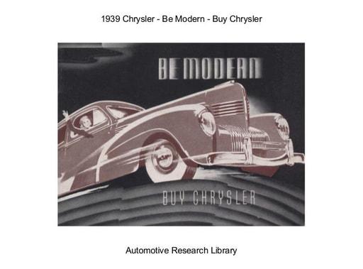 1939 Chrysler   Be Modern (18pgs)