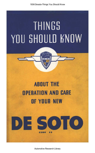 1936 Desoto   Things You Should Know (62pgs)