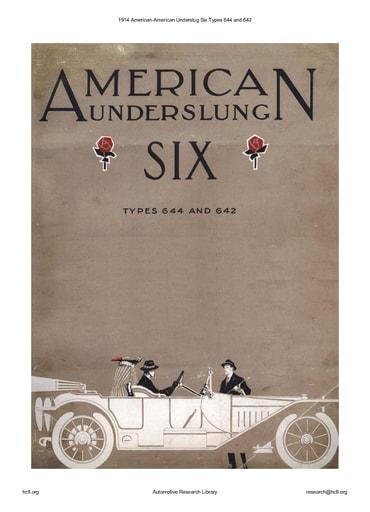 1914 American   Underslug Six Types 644 and 642 (8pgs)