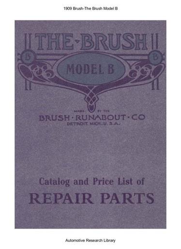 1909 Brush   The Model B (34pgs)