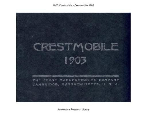 1903 Crestmobile (21pgs)
