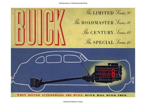 1938 Buick   Series 90 80 60 40 (36pgs)