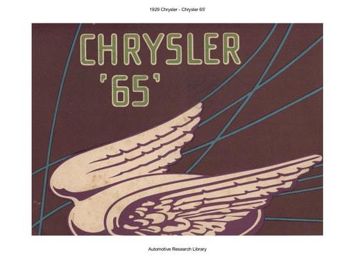 1929 Chrysler   65 (15pgs)