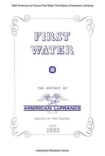 1832 American La France   First Water (38pgs)