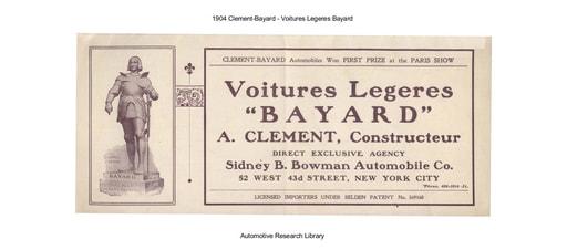 1904 Clement Bayard   Voitures Legeres Bayard (8pgs)