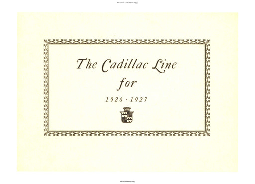 1926 Cadillac   Line for 1926 27 (35pgs)