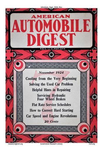 American Automobile Digest - 1924 November
