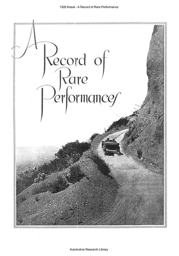 1926 Kissel   A Record of Rare Performance (16pgs)