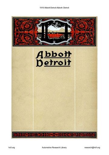 1916 Abbott Detroit (20pgs)
