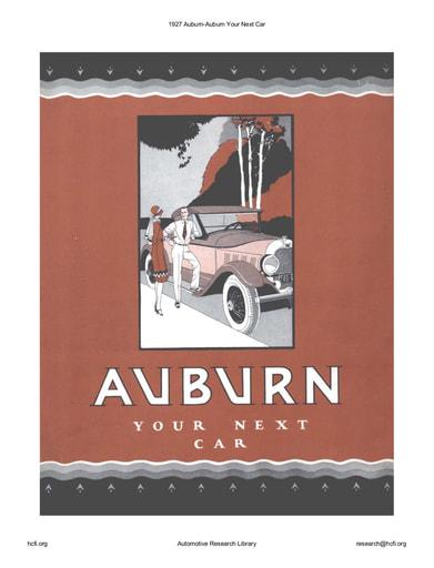 1927 Auburn   Your Next Car (8pgs)