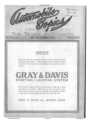 Auto Topics | 1913 Dec 06
