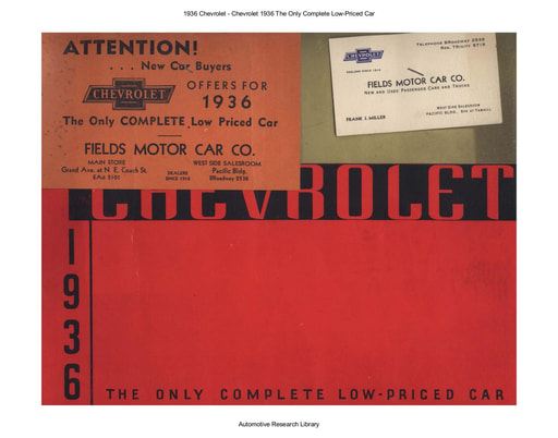1936 Chevrolet   Complete Low Priced Car (19pgs)