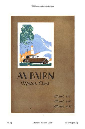 1930 Auburn Motor Cars (9pgs)