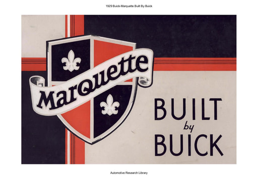1929 Buick   Marquette Built By Buick (16pgs)