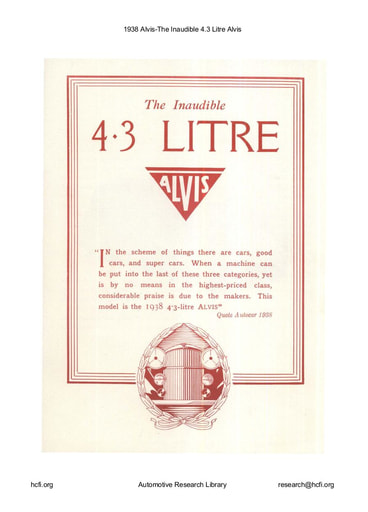 1938 Alvis   The Inaudible 4 3 Litre (20pgs)