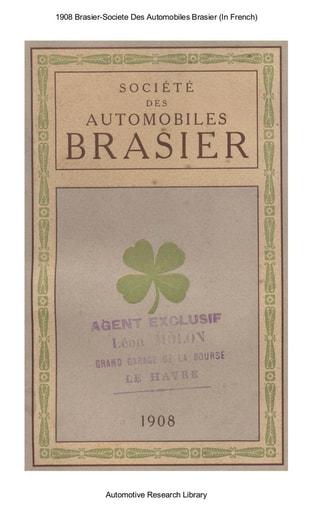 1908 Brasier Societe Des Automobiles Brasier (28pgs)