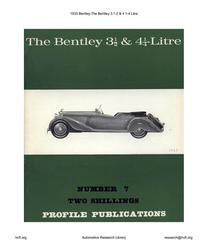1933 Bentley   3 1 2 & 4 1 4 Litre (12pgs)