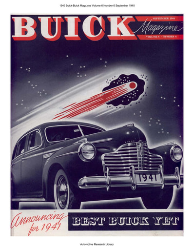 1940 Buick Magazine Volume 6 Number 6 Sep  (24pgs)