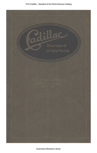 1915 Cadillac   Standard of the World Advance Catalog (17pgs)