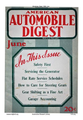 American Automobile Digest - 1924 June