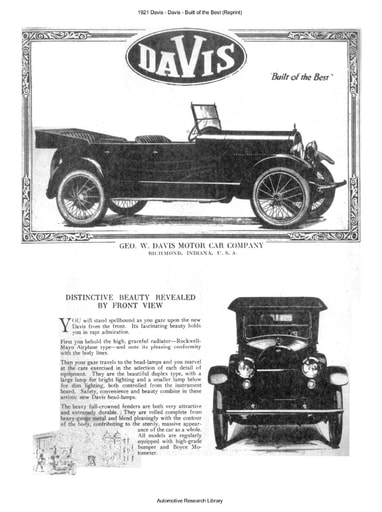 1921 Davis   Built of the Best (Reprint) (6pgs)