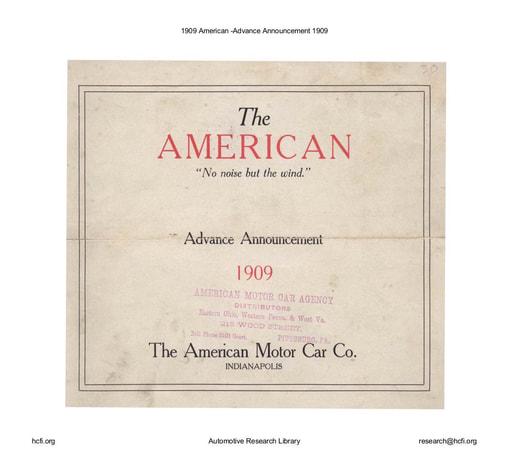 1909 American   Advance Announcement (7pgs)